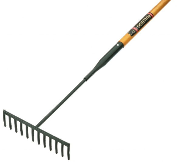 Garden Rake With PVC Grip 12 Teeth